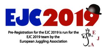 European Juggling Convention 2019 logo